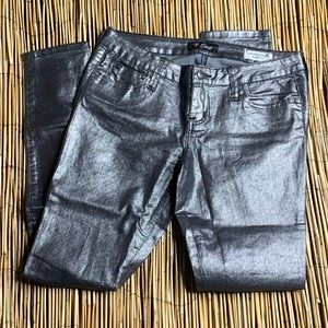 GUESS BLACK METALLIC LOW RISE MAXINE FIT JEANS 28